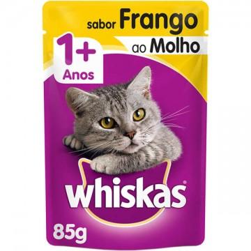 Sachê Whiskas para Gatos Adultos Sabor Frango ao Molho - 85g