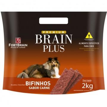 Bifinho Brain Plus para Cães Adultos Sabor Carne - 2kg