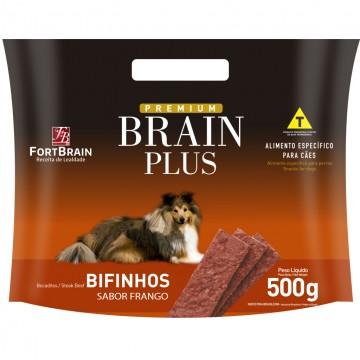Bifinho Brain Plus para Cães Adultos Sabor Frango Assado - 500g
