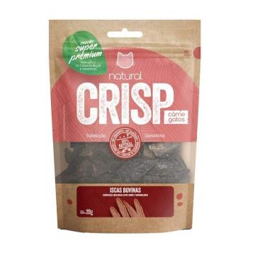 Snack Natural Crisp Iscas Bovina para Gatos - 20g