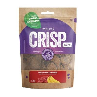 Snack Natural Crisp Carne com Banana para Cães - 20g