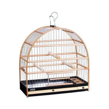 Gaiola para Pássaros Quatiguá Madeira e Arame para Canários - N°2