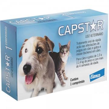Capstar para Cães e Gatos de até 11kg - 1 Comprimido