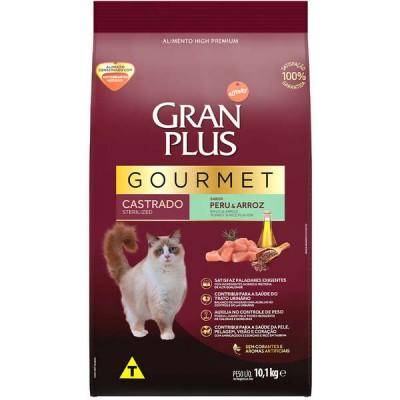 Ração GranPlus Gourmet para Gatos Castrados Sabor Peru & Arroz - 10,1kg