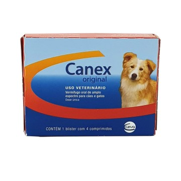 Vermífugo Canex Original para Cães - 4 Comprimidos
