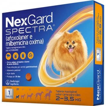 Antipulgas e Carrapatos NexGard Spectra para Cães de 2 a 3,5kg
