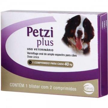 Vermífugo Petzi Plus 2,8 g para Cães - 1 Comprimido