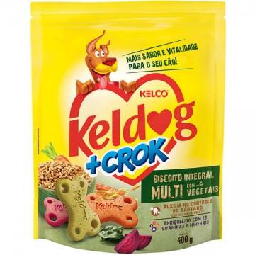 Biscoito Keldog +Crok Integral Multi com Vegetais - 400g
