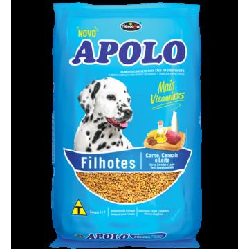 Ração Apolo para Cães Filhotes Sabor Carne, Cereais e Leite - 20kg