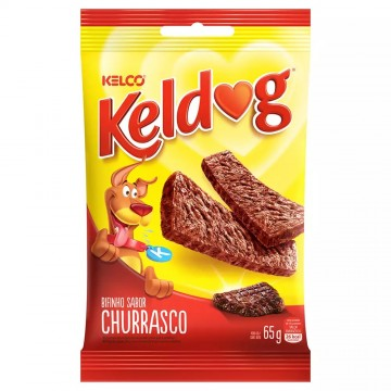 Bifinho KelDog para Cães Adultos Sabor Churrasco - 65g
