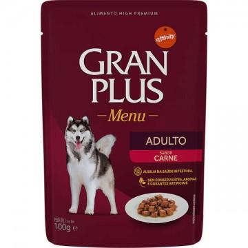 Sachê GranPlus Menu para Cães Adultos Sabor Carne - 100g