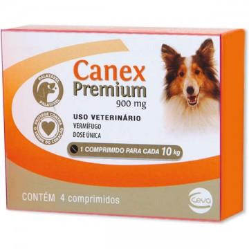 Vermífugo Canex Premium para Cães 900 mg - 4 comprimidos