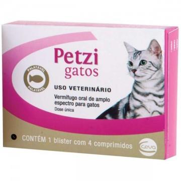 Vermífugo Petzi para Gatos 600 mg - 1 comprimido