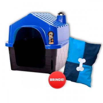 Casa Plástica Cães Durapets N°4 + Colchonete de Brinde