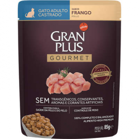 GranPlus Sachê Gourmet Frango para Gatos Castrados Adultos - 85g