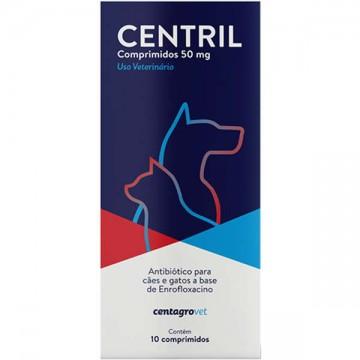 Antibiótico Centril para Cães e Gatos - 50 mg