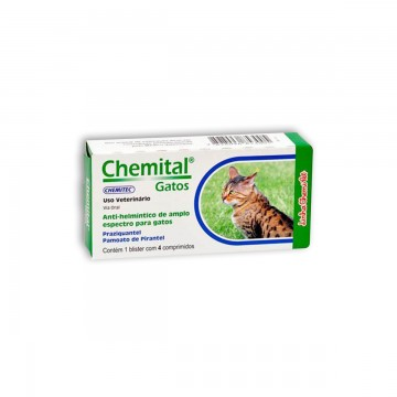 Chemital para Gatos - 4 comprimidos