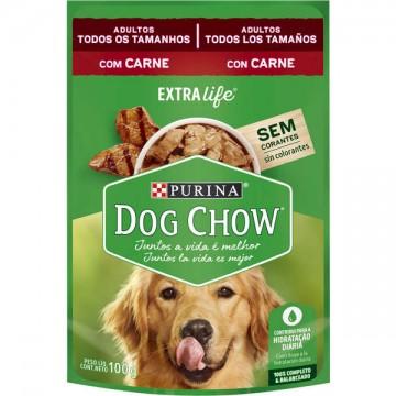 Sachê Nestlé Purina Dog Chow sabor Carne para Cães Adultos - 100g