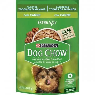 Sachê Nestlé Purina Dog Chow sabor Carne para Cães Filhotes - 100g