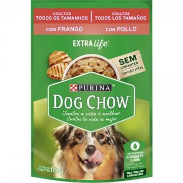 Sachê Nestlé Purina Dog Chow sabor Frango para Cães Adultos - 100g