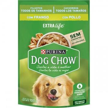 Sachê Nestlé Purina Dog Chow sabor Frango para Cães Filhotes - 100g