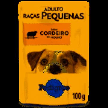 Sachê Pedigree para Cães Adultos de Raças Pequenas Sabor Cordeiro ao Molho - 100g