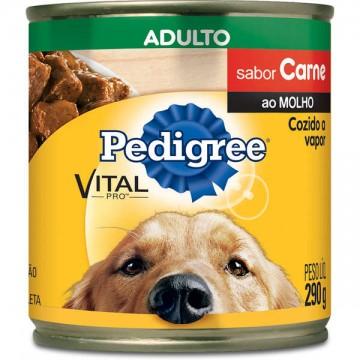 Pedigree Lata para Cães Adultos Sabor Carne ao Molho - 280g