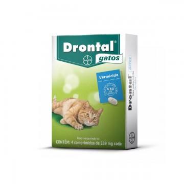 Drontal para Gatos - 4 comprimidos