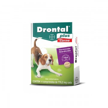Drontal Plus Sabor Carne para Cães de até 10 kg