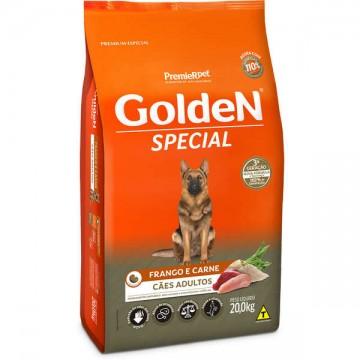 Ração Golden Special para Cães Adultos Sabor Frango e Carne - 20kg