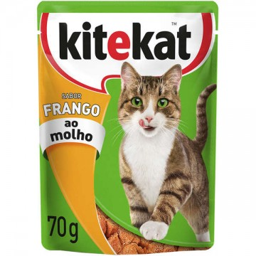 Sachê Kitekat para Gatos Adultos Sabor Frango - 70g