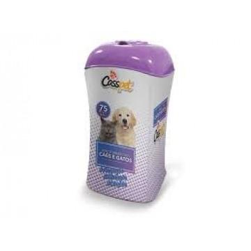 Lenços Umedecidos CassPet para Cães e Gatos - 75 unidades