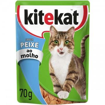Sachê Kitekat para Gatos Adultos Sabor Peixe - 70g