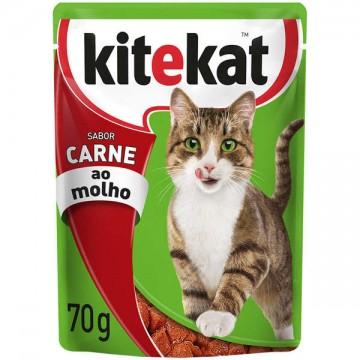 Sachê Kitekat para Gatos Adultos Sabor Carne - 70g