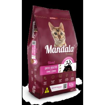 Ração Mandala Premium Gatos Adultos - 10,1kg + Cama de Brinde