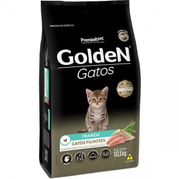 Ração Golden Gatos Filhotes Sabor Frango - 10,1kg + Areia de Brinde
