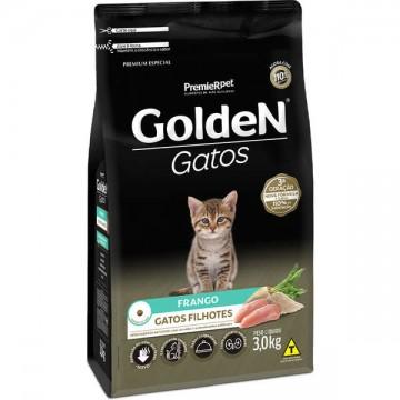 Ração Golden Gatos Filhotes Sabor Frango - 3kg