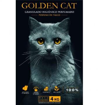 Areia Higiênica Fina Perfumada Golden Cat - 4kg