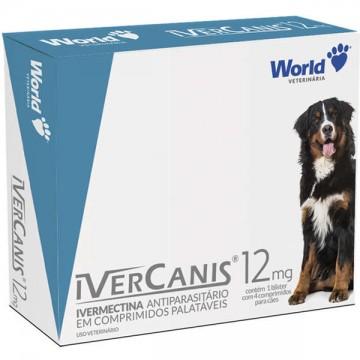 Antiparasitário IverCanis 12 mg para Cães de 60 kg