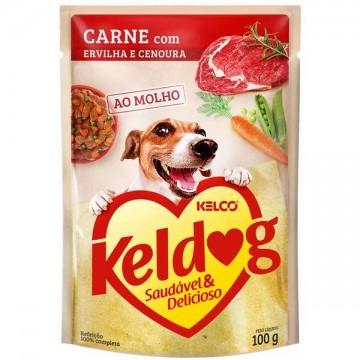 Sachê Keldog para Cães Adultos Sabor Carne - 100g