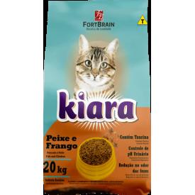 Ração Kiara para Gatos Adultos Sabor Peixe - 20kg