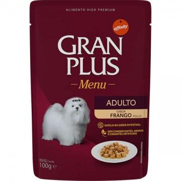 Sachê GranPlus Menu para Cães Adultos Sabor Frango - 100g