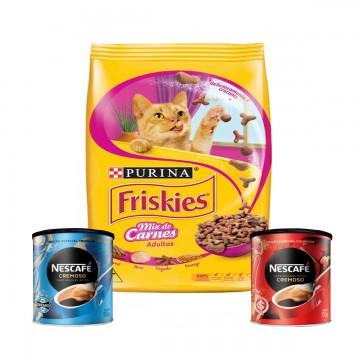 Ração Nestlé Purina Friskies para Gatos Castrados Sabor Mix de Carnes - 10,1kg + Super Brinde!