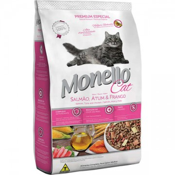 Ração a Granel Monello Cat  Gatos Adultos Sabor Salmão, Atum e Frango - 1kg