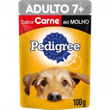 Sachê Pedigree para Cães Adultos 7+ anos Sabor Carne ao Molho - 100g