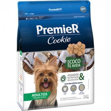 Biscoito Premier Cookie Coco e Aveia para Cães Adultos de Raças Pequenas - 250g