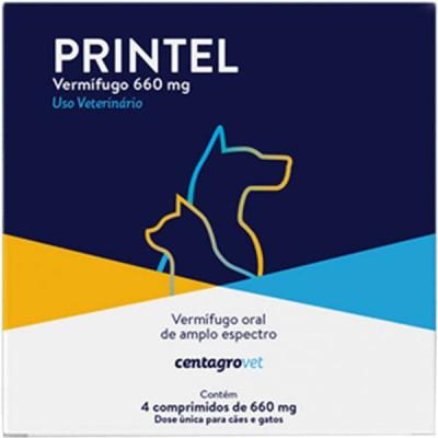 Vermífugo Printel para Cães e Gatos - 4 Comprimidos