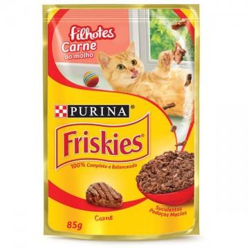 Sachê Friskies para Gatos Filhotes Sabor Carne ao Molho - 85g