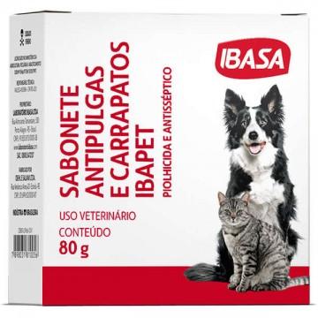 Sabonete Ibasa Antipulgas para Cães e Gatos - 80g