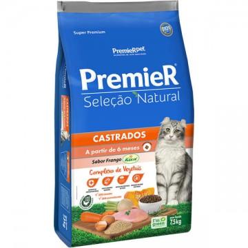 Ração a Granel Premier Seleção Natural Gatos Castrados Sabor Frango - 1kg